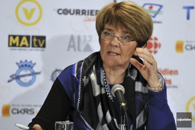 Martine Couture, présidente-directrice générale du Centre intégré universitaire... (Photo Le Quotidien, Rocket Lavoie)
