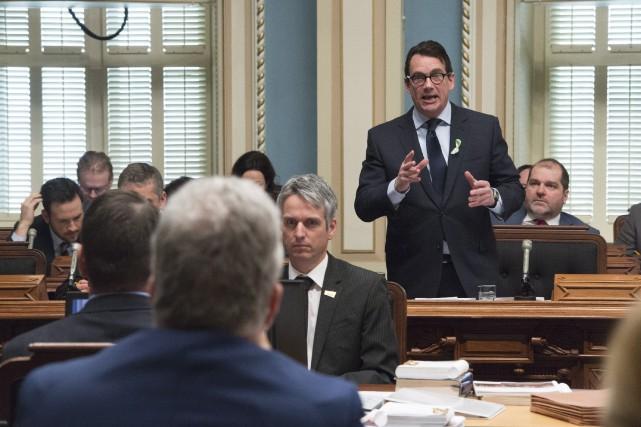 Le chef du Parti québécois, Pierre Karl Péladeau... (La Presse Canadienne, Jacques Boissinot)