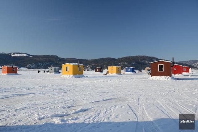 Les glaces du village de pêche de L'Anse-Saint-Jean... ((Archives Le Quotidien))