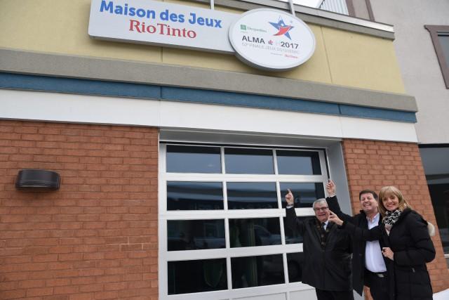 Marc Asselin, maire d'Alma, Rock Morasse, directeur adjoint... ((Courtoisie))