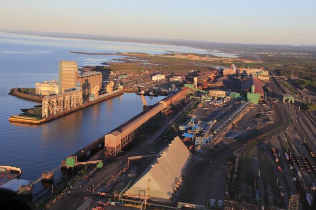 Les installations du géant minier ArcelorMittal à Port-Cartier.... (Courtoisie ArcelorMittal Exploitation minière Canada)