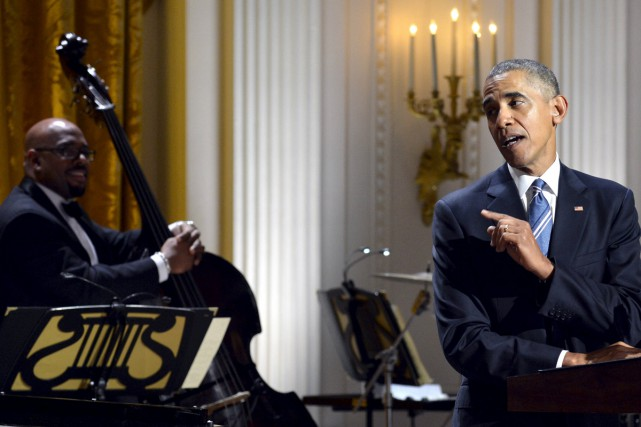 Barack Obama a rendu hommage à Ray Charles... (PHOTO REUTERS)