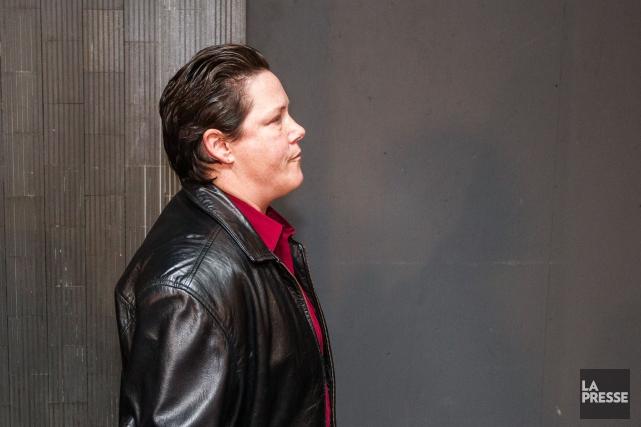 L'ex-policière Stéfanie Trudeau à son arrivée en cour,... (PHOTO HUGO-SEBASTIEN AUBERT, LA PRESSE)