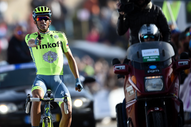 Alberto Contador... (Photo Francisco Leong, AFP)
