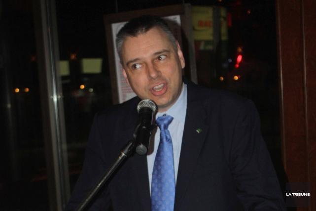 André Bellavance a été élu dimanche à la... (La Tribune, Yanick Poisson)