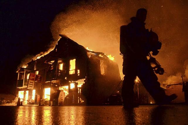 Un incendie d'une rare sévérité a rasé un... (Collaboration spéciale, Éric Beaupré)