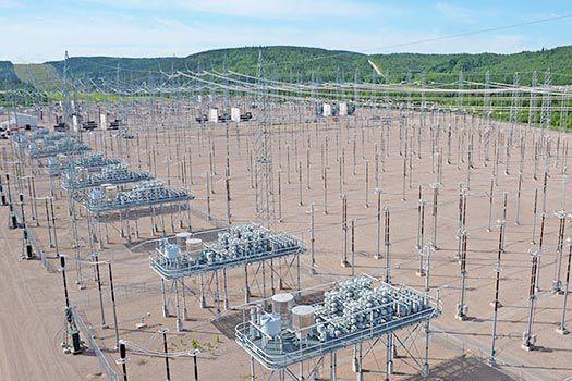 Le poste de la Chamouchouane, au Saguenay-Lac-Saint-Jean.... (Hydro-Québec)