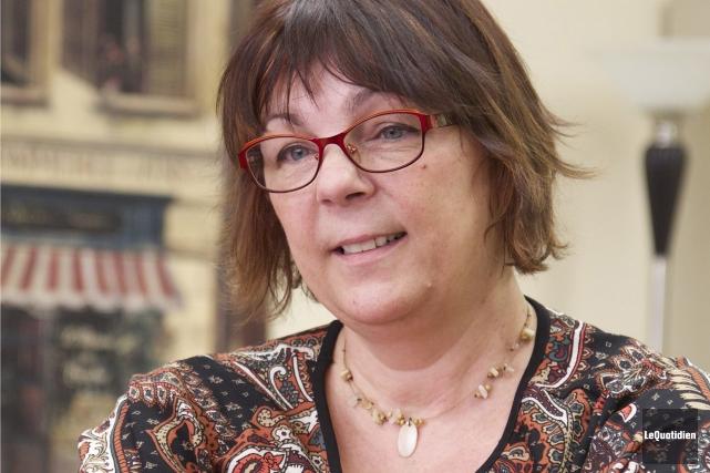 Marie-Christine Bernard, l'auteure de Matisiwin, compte bien porter... (Photo Le Quotidien, René Bouchard)