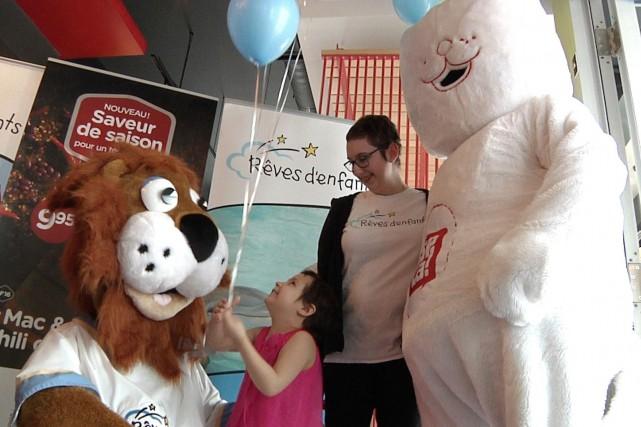 La Fondation Rêves d'enfants a réalisé le souhait... (Image tirée d'une capture d'écran)