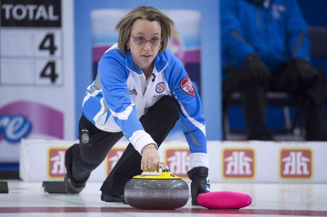 Marie-France Larouche et l'équipe du Québec ont mal... (La Presse Canadienne, Jonathan Hayward)