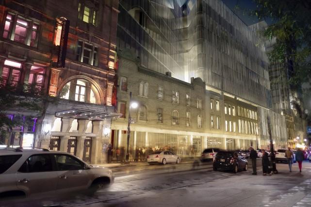 Le projet immobilier du Carré Saint-Laurent est évalué... (Photo fournie par la Société de développement Angus)