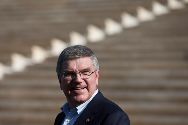 Thomas Bach, président du Comité international olympique (CIO)... (Archives AP)