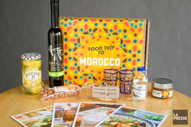 Le coffret «Morocco» de l'entreprise Food Trip to...... (PHOTO DAVID BOILY, LA PRESSE)