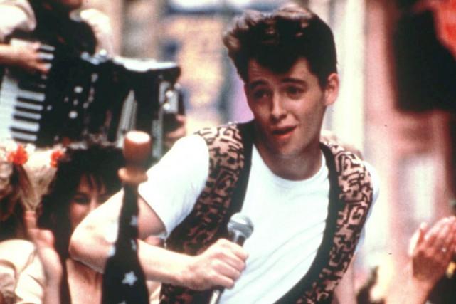 Matthew Broderick dans une scène du film Ferris... (PHOTO LA PRESSE CANADIENNE)