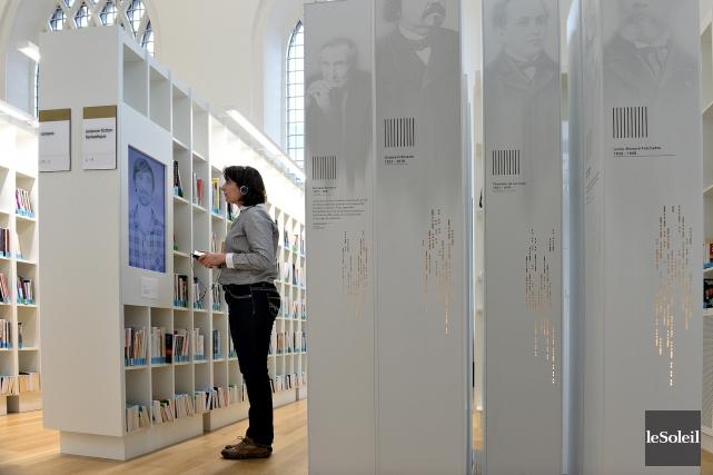 L'exposition permanente sur la littérature québécoise de la... (Photothèque le Soleil, Patrice Laroche)