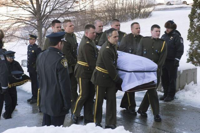 Les funérailles civiques avaient lieu vendredi après-midi à... (Photo Jacques Boissinot, La Presse Canadienne)