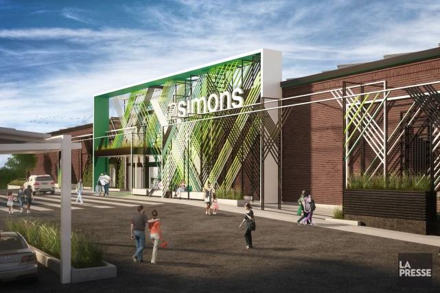 La façade du nouveau magasin Simons, qui sera... (Fournie par Simons)