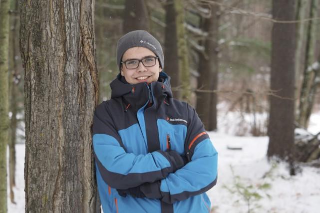 Étienne Gagnon, 14ans, entame une expédition en traîneau... (alain dion)