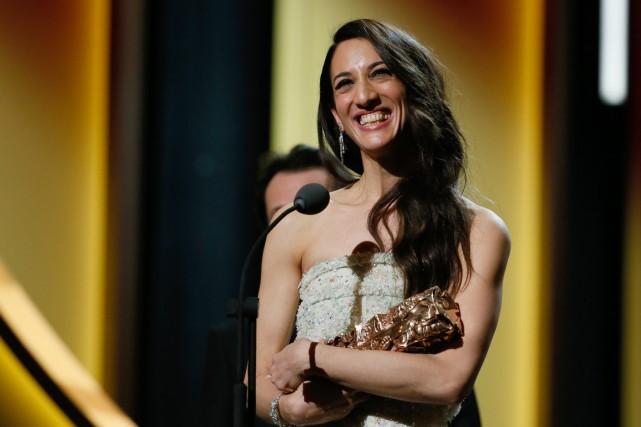La réalisatrice franco-turque Deniz Gamze Erguven a reçu... (Photo PATRICK KOVARIK, AFP)