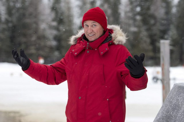 Wayne Gretzky était depassage à Plaster Rock, au... (La Presse Canadienne, Andrew Vaughan)