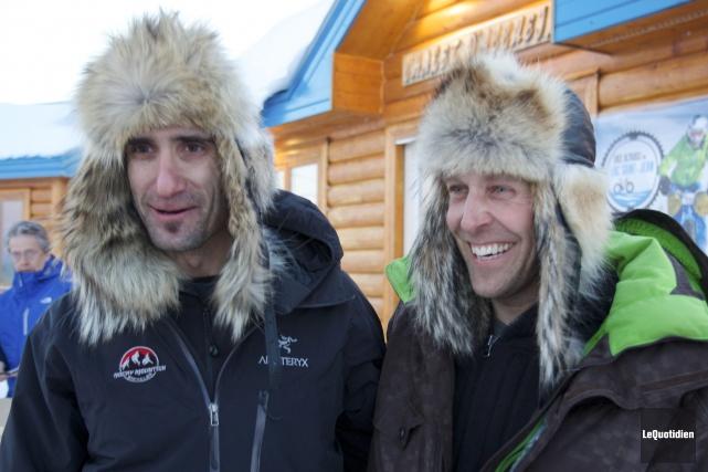Christian Gauvin et Ian Carbonneau... (Photo Le Quotidien, René Bouchard)