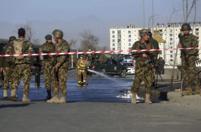 Les talibans, qui ont endossé la responsabilité de... (Photo Massoud Hossaini, AP)