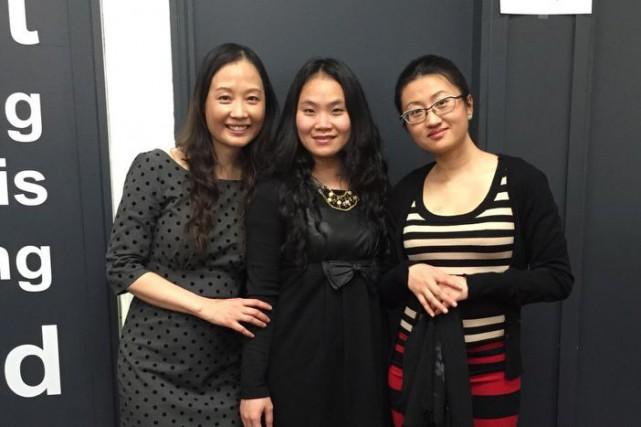 Lucy Hui Chen, à droite,avec ses amies Mei... (PHOTO COURTOISIE)