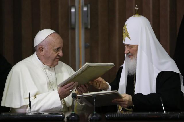 Le pape François a rencontré, à Cuba, le... (Photo AP)