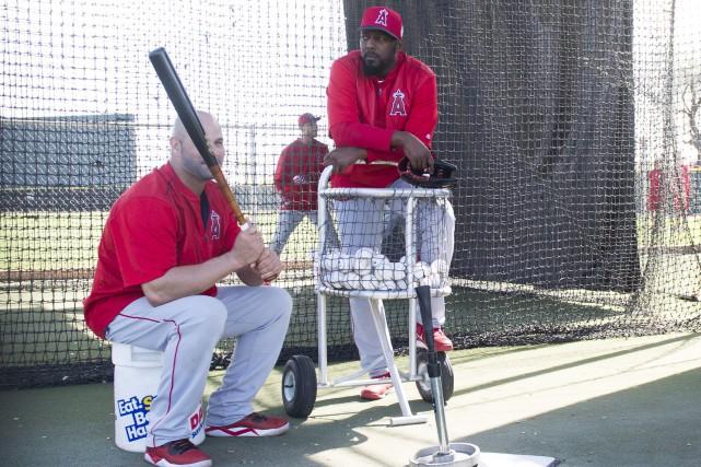 L'ancien joueur des Expos Vladimir Guerrero, que l'on... (Photo AP, Kevin Sullivan)