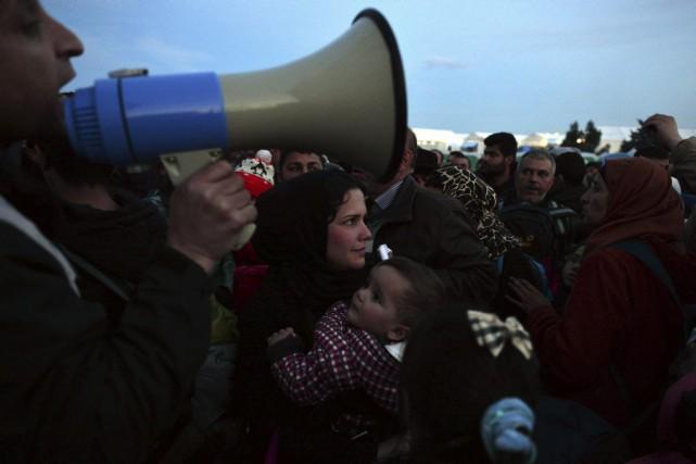 Ce blocage des migrants à Idomeni, en Grèce,... (Photo AFP)