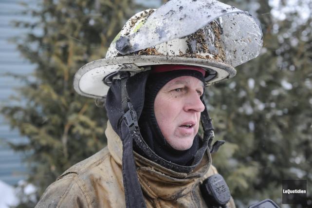 Le directeur du service d'incendie d'Alma, Bernard Dallaire.... (Archives Le Quotidien, Gimmy Desbiens)