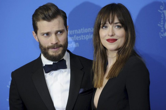 Les vedettes de Fifty Shades of Grey, Jamie... (PHOTO STEFANIE LOOS, ARCHIVES REUTERS)