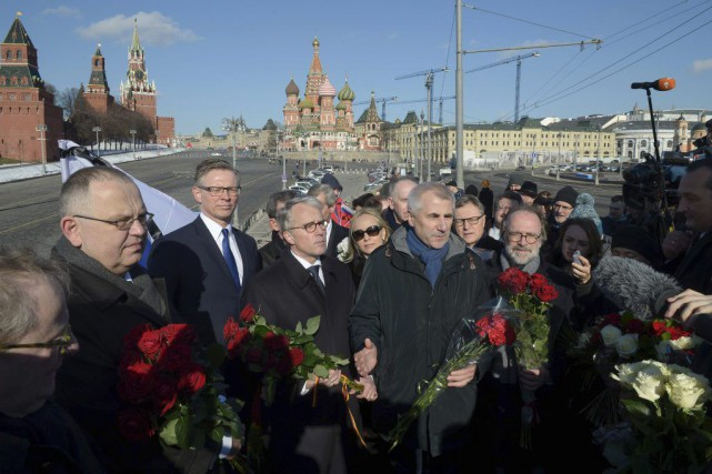 Le leader de l'opposition russeBoris Nemtsov a été... (PHOTO NATALIA KOLESNIKOVA, AFP)