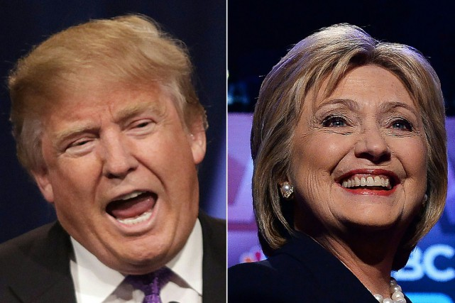 Donald Trump et Hillary Clinton... (PHOTOS ARCHIVES AGENCE FRANCE-PRESSE)