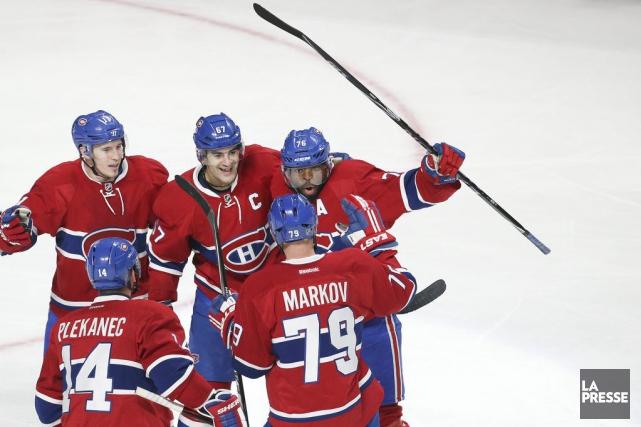 Après sa victoire de samedi, le Canadien est... (PHOTO ROBERT SKINNER, LA PRESSE)