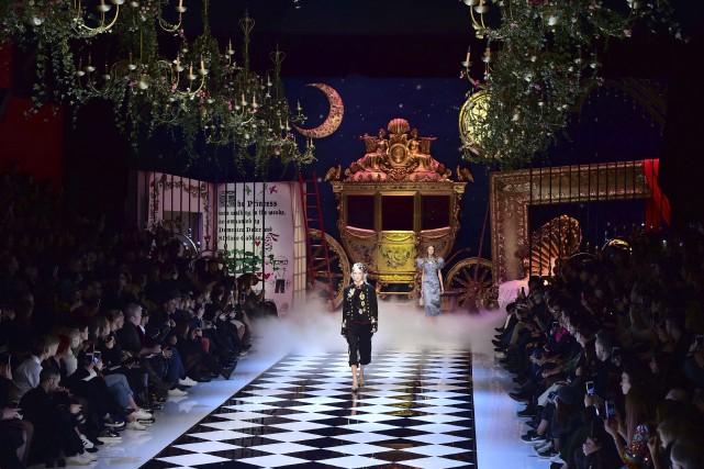 Dolce et Gabbana, était en vedette, dimanche, en... (AFP, Giuseppe Cacace)