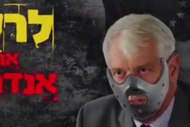 Dans la vidéo,l'ambassadeur de l'UEest comparé au tueur... (PHOTO TIRÉE DE FACEBOOK)