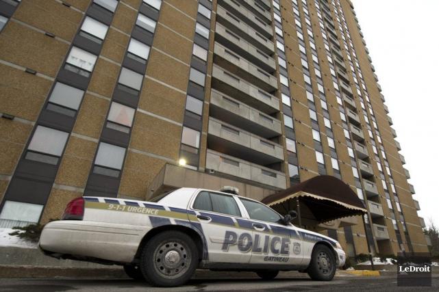 C'est l'interception du véhicule volé, à Ottawa, qui... (Martin Roy, Archives LeDroit)