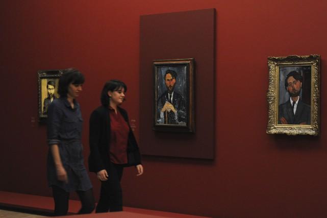 Une centaine d'oeuvres d'Amedeo Modigliani sont exposées aumusée... (AFP, François Lo Presti)