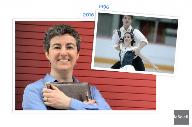 L'ex-patineuse artistique Sylvie Piché, que l'on voit ci-haut... (Infographie Le Soleil)