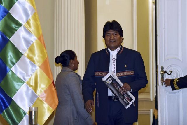 Le président bolivien Evo Morales... (AFP, Aizar Raldes)