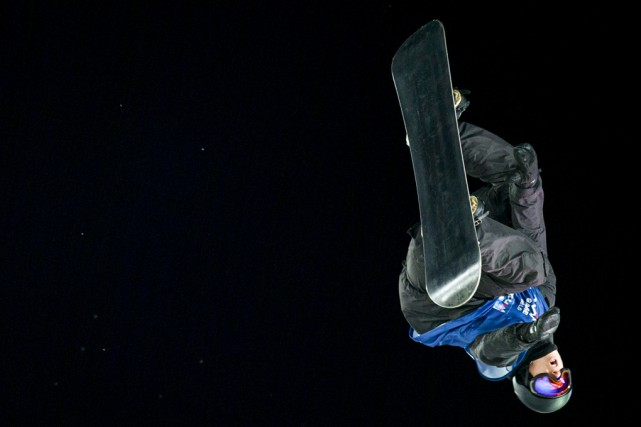 Le Bromontois Maxence Parrot en plein saut à... (PHOTO ARCHIVES ASSOCIATED PRESS)