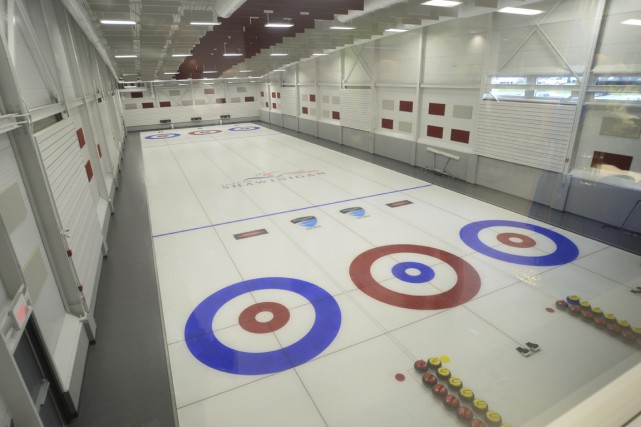 Le Club de curling de Grand-Mère... (Sylvain Mayer)