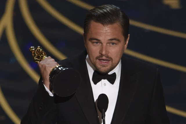 Leonardo Di Caprio a finalement pu mettre l... (Associated Press)
