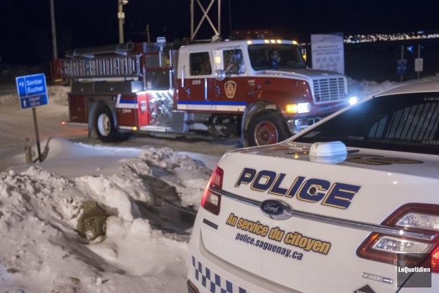 Les pompiers ont été sollicités pour rechercher le... (Photo Le Quotidien, Michel Tremblay)