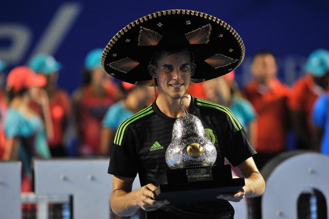 L'Autrichien Dominic Thiem aremporté le tournoi d'Acapulco samedi.... (Photo Pedro Pardo, AFP)