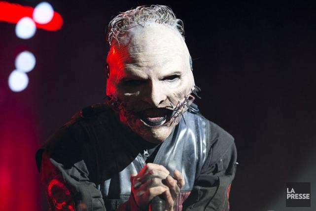 La formation Slipknot (dont le chanteur Corey Taylor)... (La Presse, Sarah Mongeau-Birkett)
