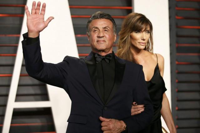 Sylvester Stallone et sa femme Jennifer Flavin.... (PHOTO REUTERS)