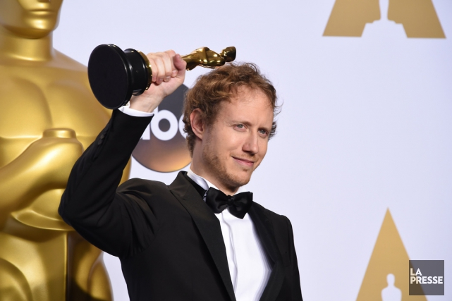Laszlo Nemes a remporé l'Oscar du meilleur film... (PHOTO AFP)