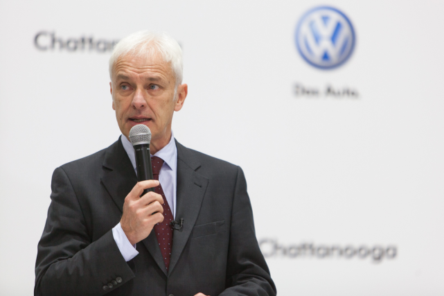 Le patron de Volkswagen, Matthias Müller.... (Photo Joe Dodd, archives AP)